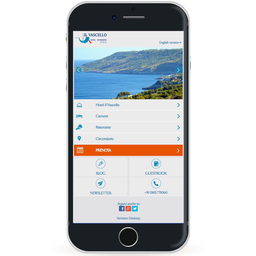Sito web per Hotel Mobile